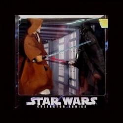 "ELECTRONIC POWER F/X OBI-WAN KEN-OBI VS DARTH VADER STAR WARS (12"" KENNER 1997)"