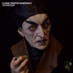 Classic Painted Nosferatu (Life-Size Bust by Black Heart Enterprises, LLC)