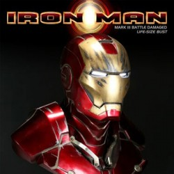 Iron Man - Battle Damaged (Busto Life-Size)