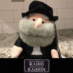 Rabbi Hanukkah Jewish Hava Nagila Dancing & Singing Plush Doll Gemmy