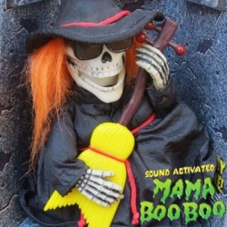 Mama Boo Boo Singing Dancing Glows in Dark Skeleton Witch by Tamfort Ventura