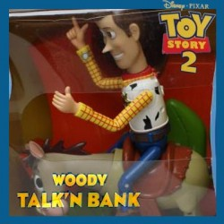 Woody talk'n bank Woody & Bullseye Toy Story 2 Disney Pixar Thinking Toy