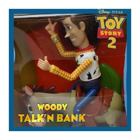 Woody talk'n bank Woody & Bullseye Toy Story 2 Disney Pixar Thinking Toy