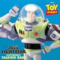 Buzz Lightyear Disney Electronic Talking Coin Bank by ThinkWay Toys