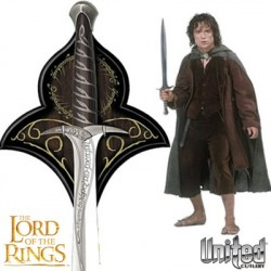 STING™ The Sword Of Frodo Baggins With Wall Plaque Lord of the Rings (Prop Replica by United Cutlery)