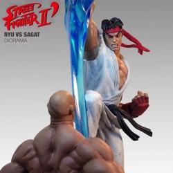 Ryu vs Sagat - Exclusive (Polystone Diorama)
